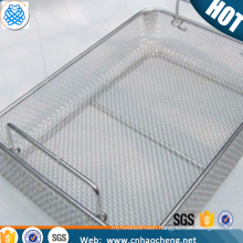 Stainless steel Sterilization lab wire mesh basket for surgical instrument