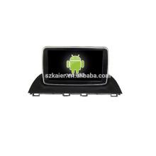 Quad-Core! Auto-DVD mit Spiegellink / DVR / TPMS / OBD2 für 8-Zoll-Touchscreen-Quad-Core 4.4 Android-System MAZDA 3 2015