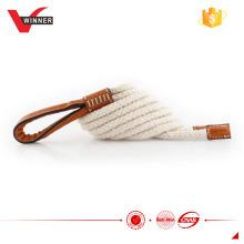 Handmade white cotton rope belt