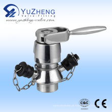 Válvula de amostragem de aço inoxidável com extremidade soldada