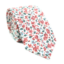 Impresión floral para hombre que casan lazos de algodón flacos