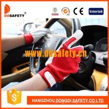 Pig Skin Cotton Back for General Working Place Gloves DLP411