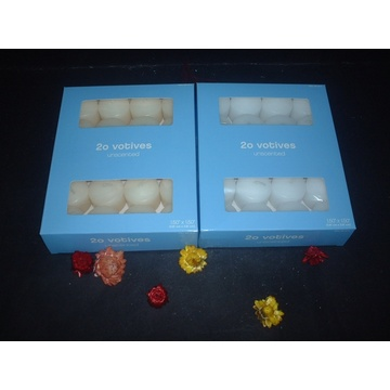 Bulk Unscented White Votive Candle