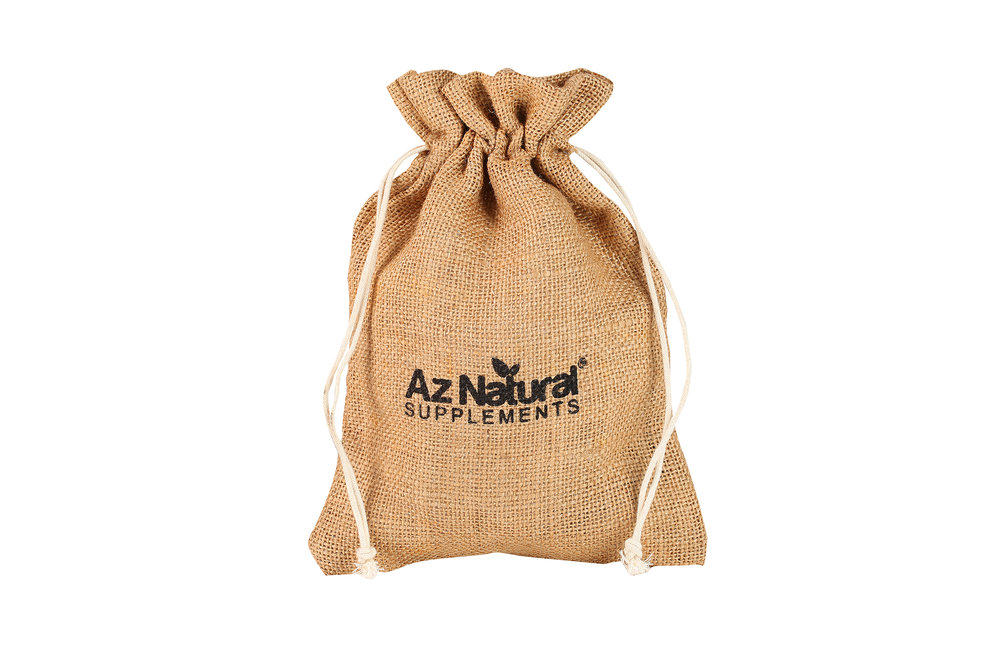 wholesale cheap custom jute drawstring bag