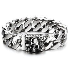 Custom Wholesale Neo-Gothic Bracelet For Men Amazon Hot Selling Curb Chain Stainless Steel Bracelet Jewelry