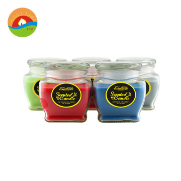 Harga Terbaik 8Oz Glass Frosted Color Glass Candle