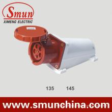 Zócalo del montaje en la pared de 63A 125A 5pin, zócalo industrial IP67, PA66 220-415V