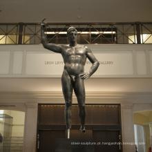 art deco riproduzioni bronze fundição metal ofício masculino escultura nua MUS95