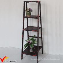 Eco Paint Rústico 3 Tiers Ladder Style Storage Prateleira