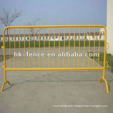 Galvanized temporary pedestrian barrier