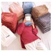 High quality the thickened coral fleece lady's pants oversize casual women pants