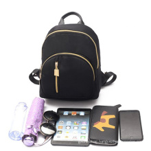 Factory trend style black simple design custom casual daypack leisure women daily school backpack