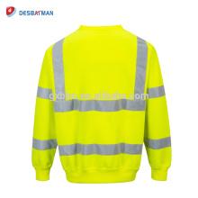 Salut Viz Crew Safety Sweat Hommes Visibilité Workwear Sécurité Fleece Jumper