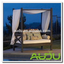 Audu USA Furniture Garden Rattan Outdoor Bed