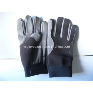 Work Glove-Synthetic Leather Glove-Industrial Glove-Safety Glove-Labor Glove-Gloves