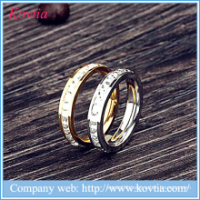 New products 2016 stainless steel rings with stones metal O rings design