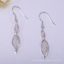 China fertigen 925 Sterling Silber Ohrring OEM weltweit exportiert
