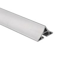Profils en aluminium adaptés aux besoins du client de revêtement de poudre d'extrusion d'aluminium anodisés