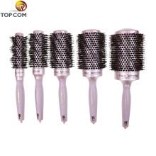 Escova de cabelo feita sob encomenda do barbeiro do logotipo redonda com bomba de pulverizador