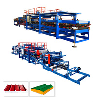 """Petit pain de panneau """"sandwich"""" de laine de roche / ENV formant la chaîne de production de feuille de machine / toit"""