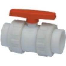 Válvula de bola del zócalo (Q61F-6S), válvula de bola doble de la unión / ANSI / JIS / DIN / GB