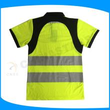 Polo de travail de sécurité à haute visibilité cycilsit