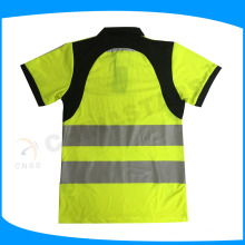 high visibility cycilsit safety work polo shirt