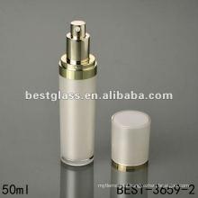 50ml round acrylic bottle with white cap