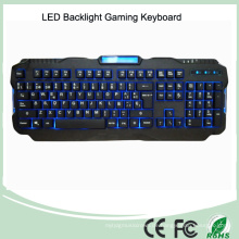 Spanische Version Rot / Lila / Blaue Hintergrundbeleuchtung LED PRO Gaming Tastatur (KB-1901EL)