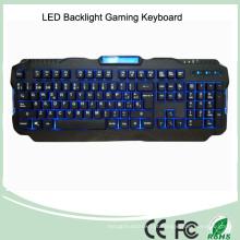 Versão em espanhol Red / Purple / Blue Backlight LED PRO Gaming Keyboard (KB-1901EL)
