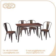 Design de mode pour table à manger rectangle en bois QinTai Furniture