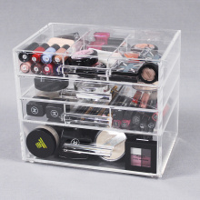 Schönheitskosmetik-Organizer aus klarem Acryl