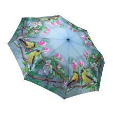Customized Promotion Printing Cmyk Color Logo Travel 3 Fold Umbrella