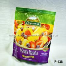 Emballage et impression Stand up Emballage en plastique Sac à provisions réutilisable Logo personnalisé