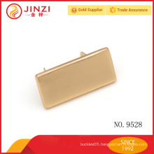 Hot sale customized small metal plate for handbags