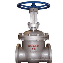 China fez baixo preço tipo de flange marinha válvula de portão de aço inoxidável pn25
