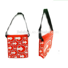 Shinny laminated pp non woven shoulder bag for advertisement and gift