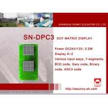 Дюймовый дисплей для лифта (SN-DPC3)