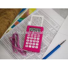 Temps montrant la calculatrice, calculatrice avec réveil, calculatrice cadeau avec corde CA-89