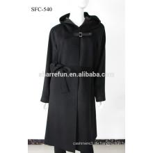 Fabrik Großhandel SFC-540 super elegangt Damen reine Kaschmir langen Mantel