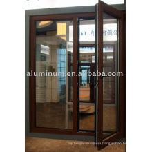 aluminum and wood windows