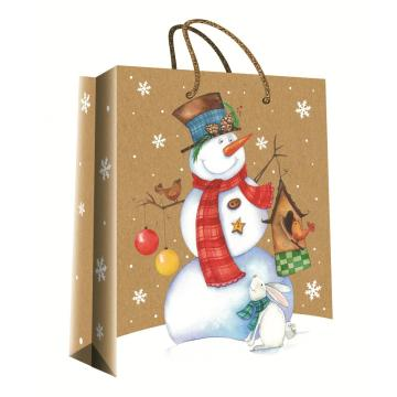 CHRISTMAS SERIES KRAFT GIFTBAG32-0
