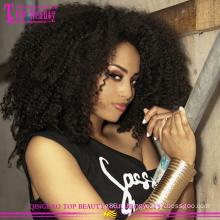 Новое поступление афро кудрявый вьющиеся парик фронта шнурка 8а класс высокое качество бесклеевой афро кудрявый парик человеческих волос