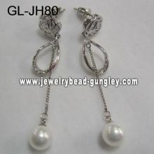 elegant women shell pearl earrings