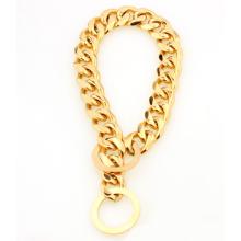 Collier de chien en acier inoxydable de chien de chaîne de chien de placage d'or 2018