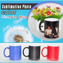 Cadeau de bricolage de haute qualité Sunmeta Magic Coffee Mug pour sublimation, tasse de changement de couleur