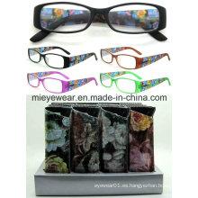 Señoras moda lentes de lectura de plástico (MRP21654)