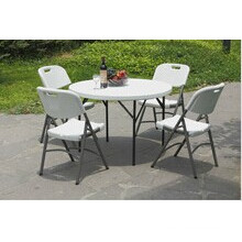 Outdoor Furniture 4ft Plastic Folding Round Banquet Table