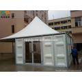 Pagodenzelt mit massiver Mauer für Event, Lager