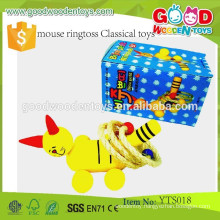 New Design Educational Wooden Classical Toys- Mouse Ringtoss Classical Toys-